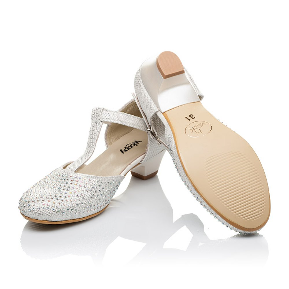 Детские туфли Woopy Orthopedic серебряные для девочек современный искусственный материал размер 27-37 (3568) Фото 2