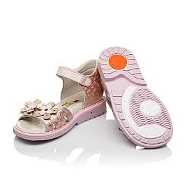 Детские ортопедические босоножки Woopy Orthopedic розовые, золотые для девочек натуральная кожа размер - (3571) Фото 2