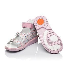 Детские ортопедические босоножки Woopy Orthopedic разноцветные, розовые для девочек натуральная кожа размер - (3574) Фото 2