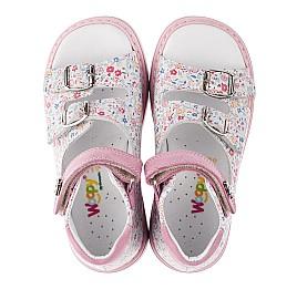 Детские ортопедические босоножки Woopy Orthopedic разноцветные, розовые для девочек натуральная кожа размер - (3574) Фото 5