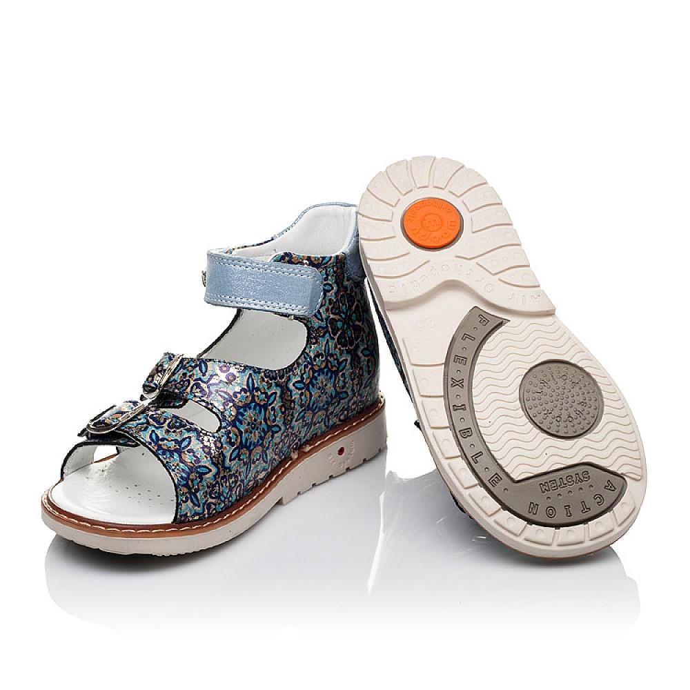 Детские босоножки Woopy Orthopedic синие, разноцветные для девочек натуральная кожа размер 18-30 (3576) Фото 2