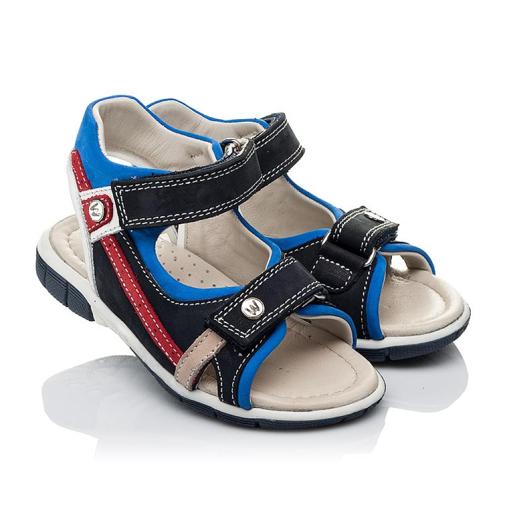 Детские босоножки Woopy Orthopedic синие для мальчиков натуральный нубук размер 21-25 (3580) Фото 1