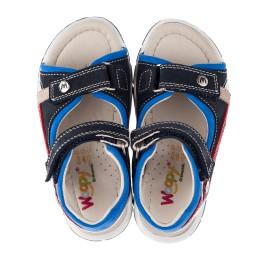 Детские босоножки Woopy Orthopedic синие для мальчиков натуральный нубук размер 21-25 (3580) Фото 5