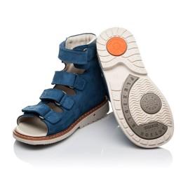 Детские ортопедичні босоніжки (з високим берцем) Woopy Orthopedic синие для мальчиков натуральная кожа размер 21-35 (3581) Фото 2