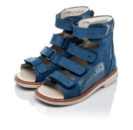 Детские ортопедичні босоніжки (з високим берцем) Woopy Orthopedic синие для мальчиков натуральная кожа размер 21-35 (3581) Фото 3