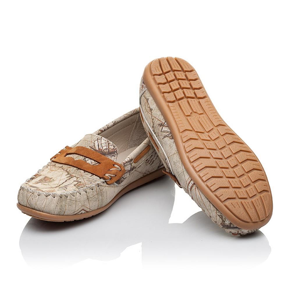 Детские мокасины Woopy Orthopedic бежевые для девочек натуральная кожа размер 26-39 (3585) Фото 2
