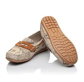 Детские мокасины Woopy Orthopedic бежевые для девочек натуральная кожа размер 28-28 (3585) Фото 2