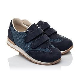 Детские кроссовки Woopy Orthopedic темно-синие для мальчиков натуральная кожа, текстиль размер 19-26 (3588) Фото 1