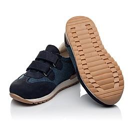 Детские кроссовки Woopy Orthopedic темно-синие для мальчиков натуральная кожа, текстиль размер 20-20 (3588) Фото 2