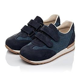 Детские кроссовки Woopy Orthopedic темно-синие для мальчиков натуральная кожа, текстиль размер 19-26 (3588) Фото 3