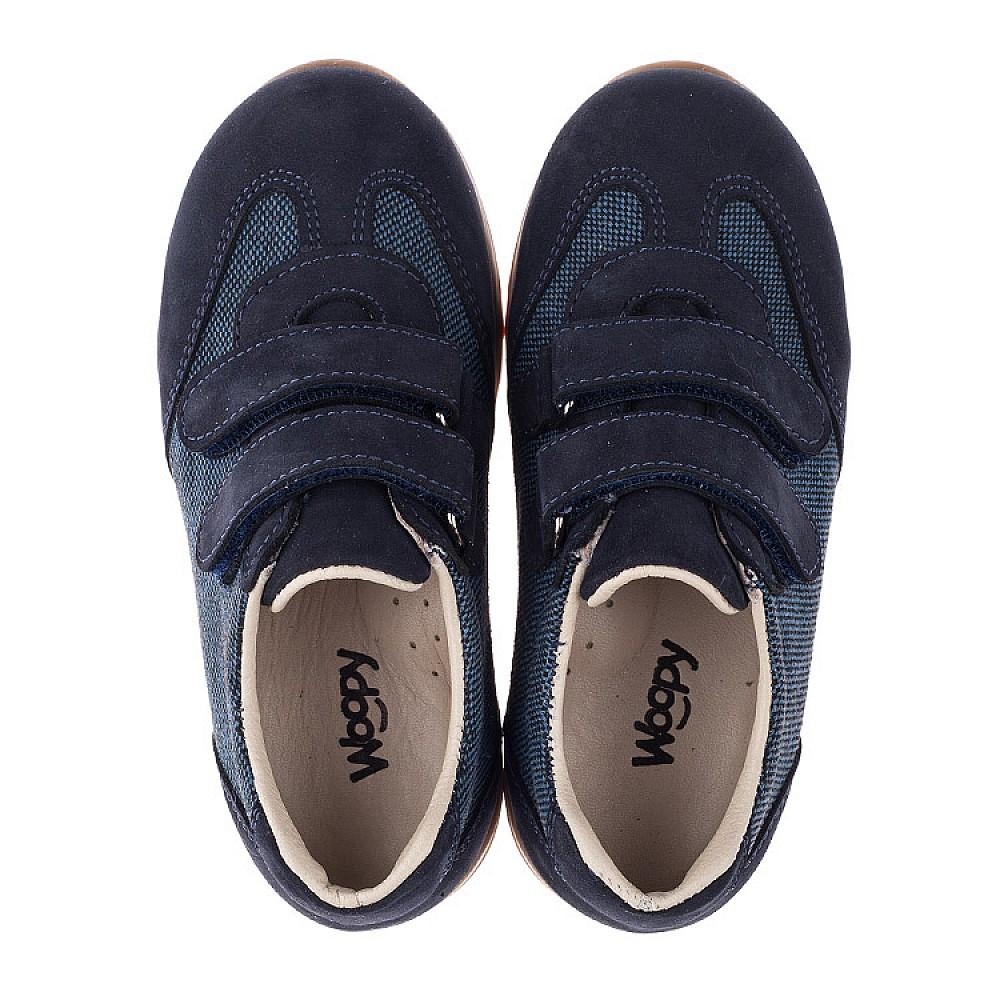Детские кроссовки Woopy Orthopedic темно-синие для мальчиков натуральная кожа, текстиль размер 19-28 (3588) Фото 5