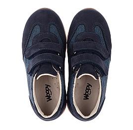 Детские кроссовки Woopy Orthopedic темно-синие для мальчиков натуральная кожа, текстиль размер 20-20 (3588) Фото 5
