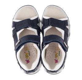 Детские босоножки Woopy Orthopedic синие для мальчиков натуральный нубук размер 26-33 (3589) Фото 5