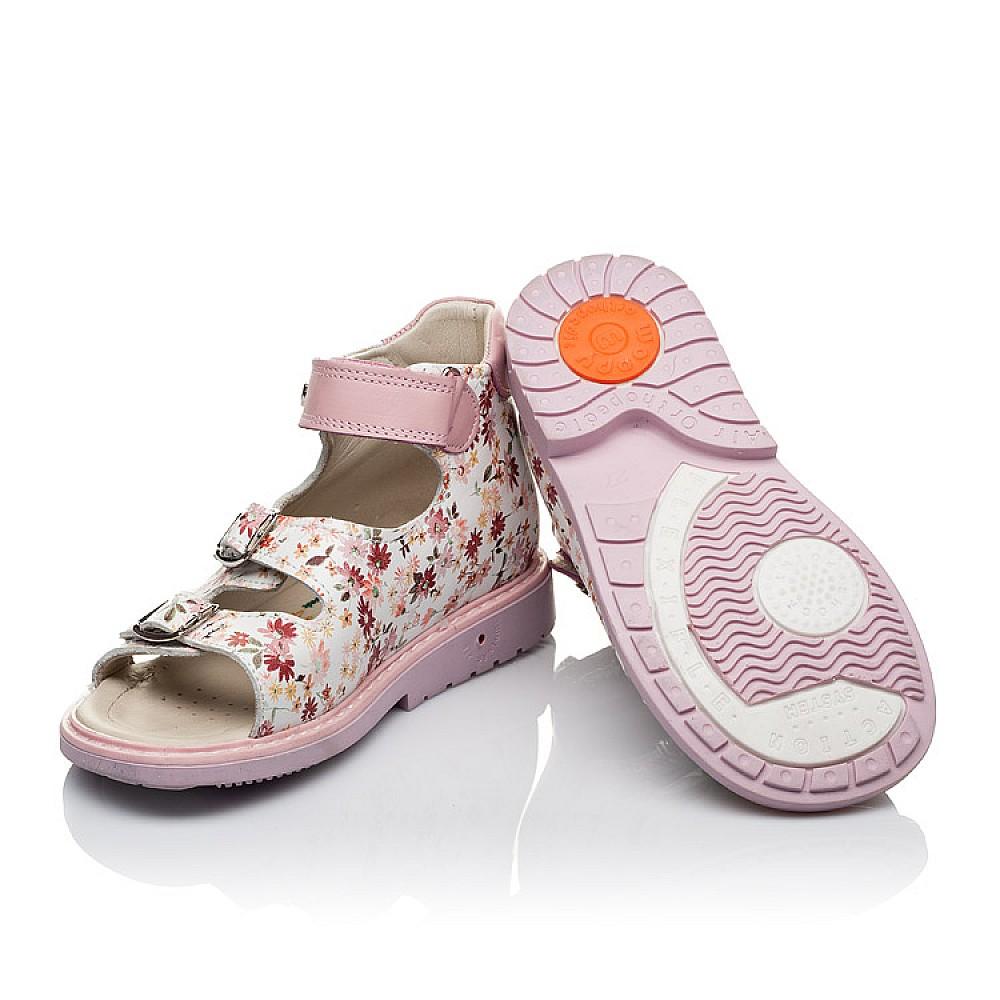 Детские ортопедические босоножки Woopy Orthopedic розовые для девочек натуральная кожа размер 18-30 (3602) Фото 2