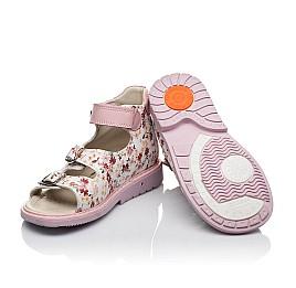Детские ортопедические босоножки Woopy Orthopedic розовые для девочек натуральная кожа размер 18-21 (3602) Фото 2