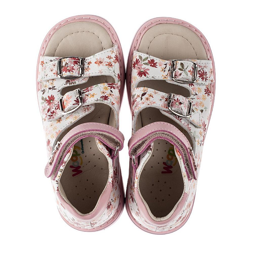 Детские ортопедические босоножки Woopy Orthopedic розовые для девочек натуральная кожа размер 18-30 (3602) Фото 5