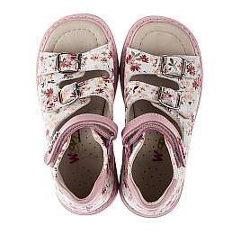 Детские ортопедические босоножки Woopy Orthopedic розовые для девочек натуральная кожа размер 18-21 (3602) Фото 5