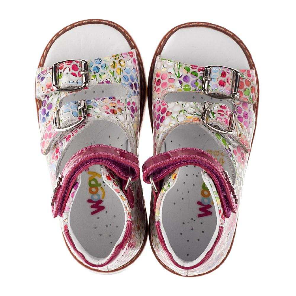 Детские ортопедические босоножки Woopy Orthopedic розовые для девочек натуральная кожа размер 18-25 (3605) Фото 5