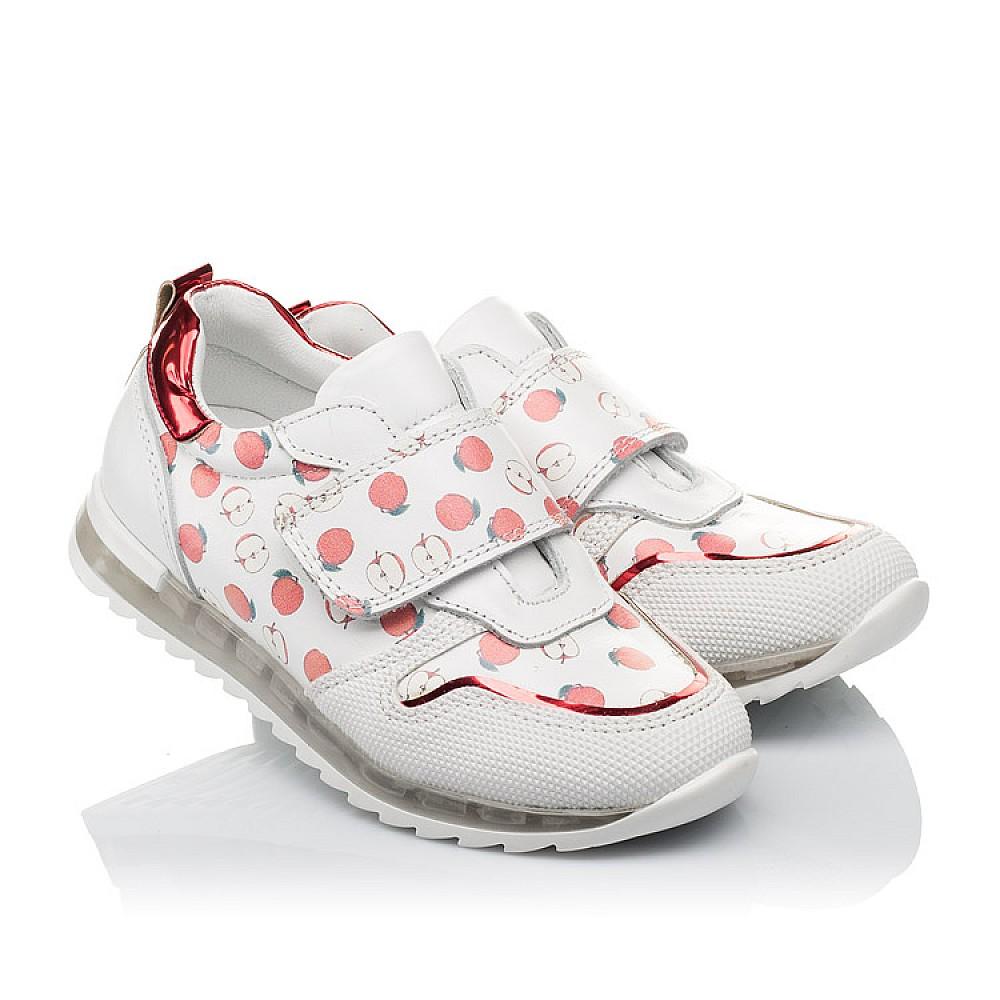 Детские кроссовки Woopy Orthopedic белые для девочек натуральная кожа размер 21-30 (3606) Фото 1