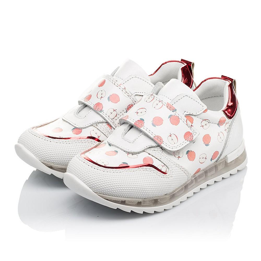 Детские кроссовки Woopy Orthopedic белые для девочек натуральная кожа размер 21-30 (3606) Фото 3