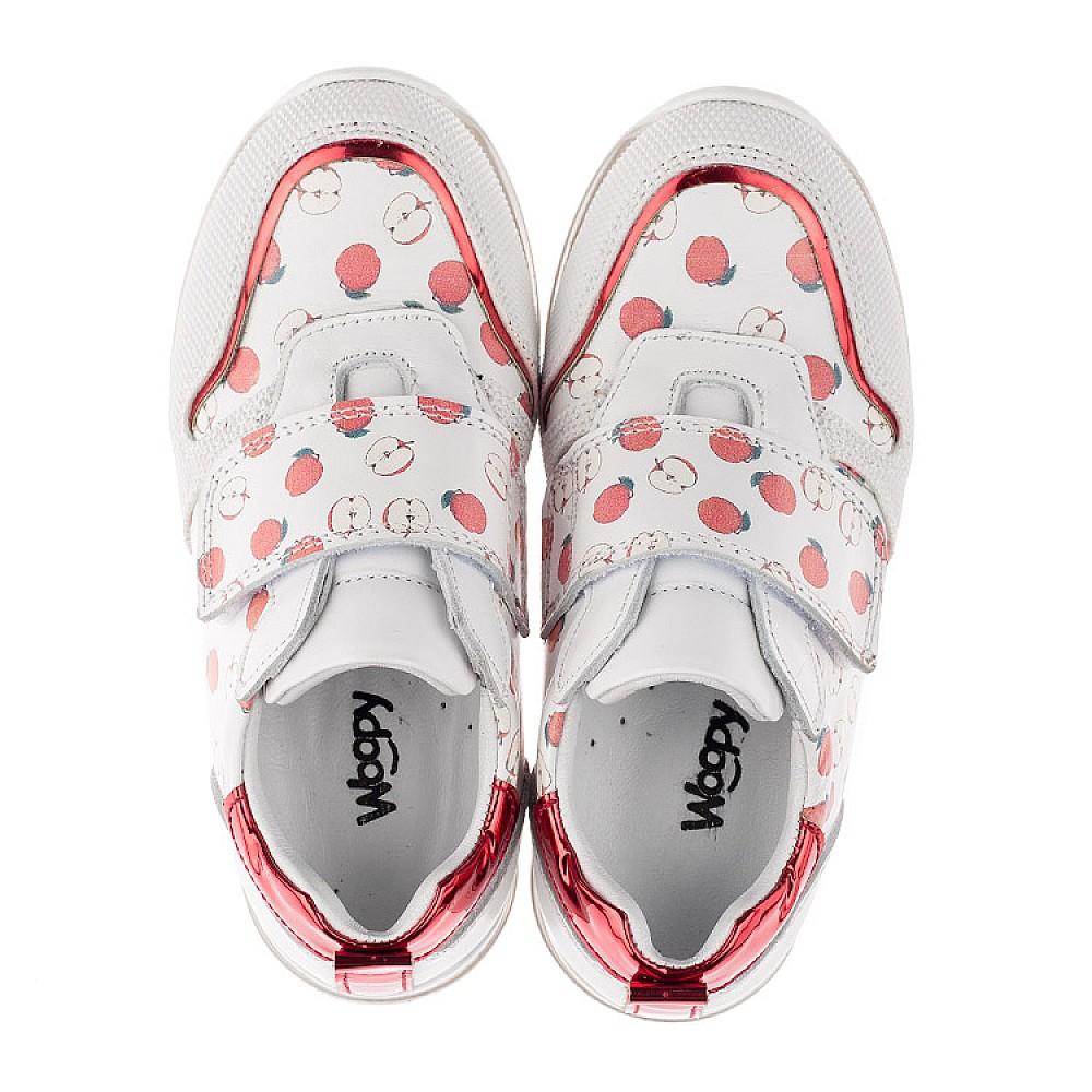 Детские кроссовки Woopy Orthopedic белые для девочек натуральная кожа размер 21-30 (3606) Фото 5
