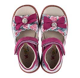 Детские ортопедические босоножки Woopy Orthopedic розовые для девочек натуральная кожа размер 25-26 (3607) Фото 5