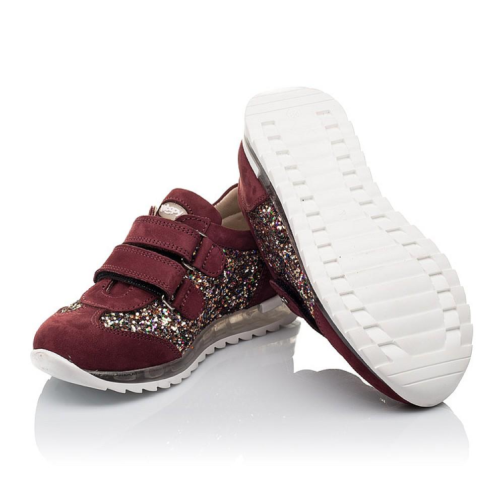 Детские кроссовки Woopy Orthopedic бордовые для девочек натуральный нубук, современный искусственный материал размер 28-34 (3615) Фото 2