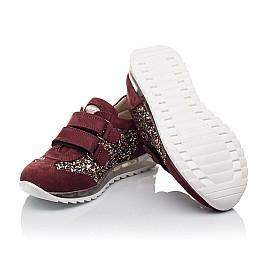 Детские кроссовки Woopy Orthopedic бордовые для девочек натуральный нубук, современный искусственный материал размер 33-33 (3615) Фото 2