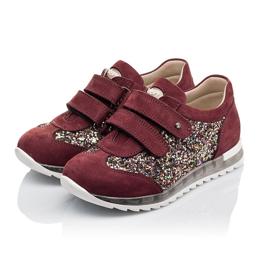 Детские кроссовки Woopy Orthopedic бордовые для девочек натуральный нубук, современный искусственный материал размер 28-34 (3615) Фото 3
