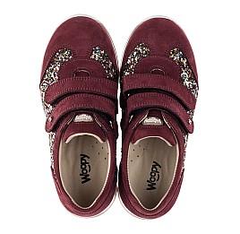 Детские кроссовки Woopy Orthopedic бордовые для девочек натуральный нубук, современный искусственный материал размер 33-33 (3615) Фото 5