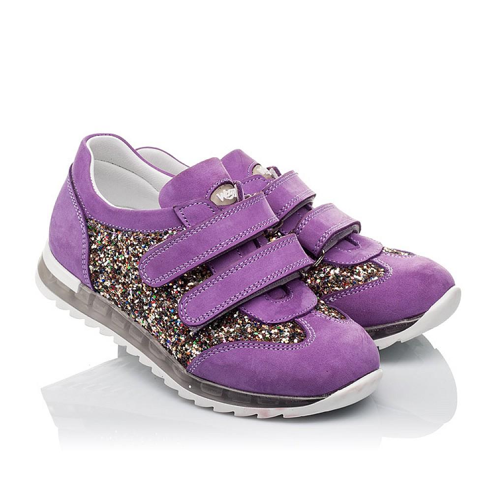 Детские кроссовки Woopy Orthopedic сиреневые для девочек натуральный нубук, современный искусственный материал размер 26-36 (3616) Фото 1