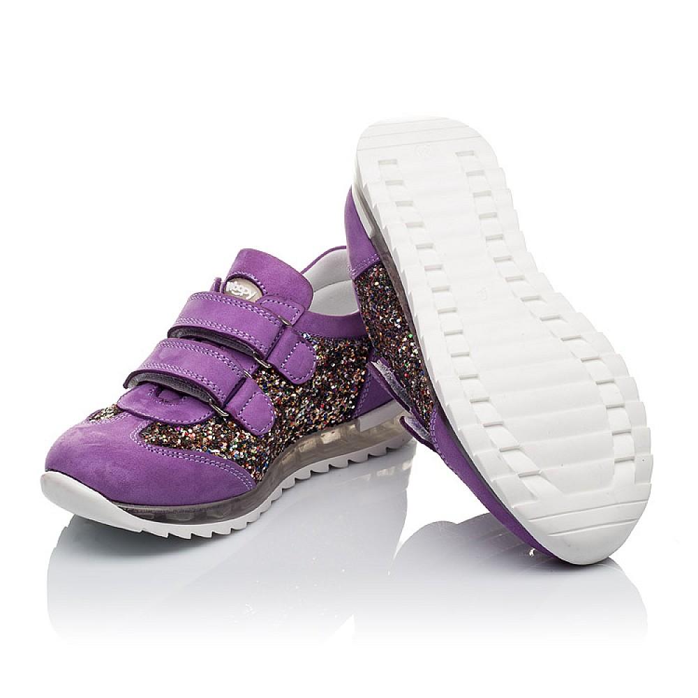 Детские кроссовки Woopy Orthopedic сиреневые для девочек натуральный нубук, современный искусственный материал размер 26-36 (3616) Фото 2