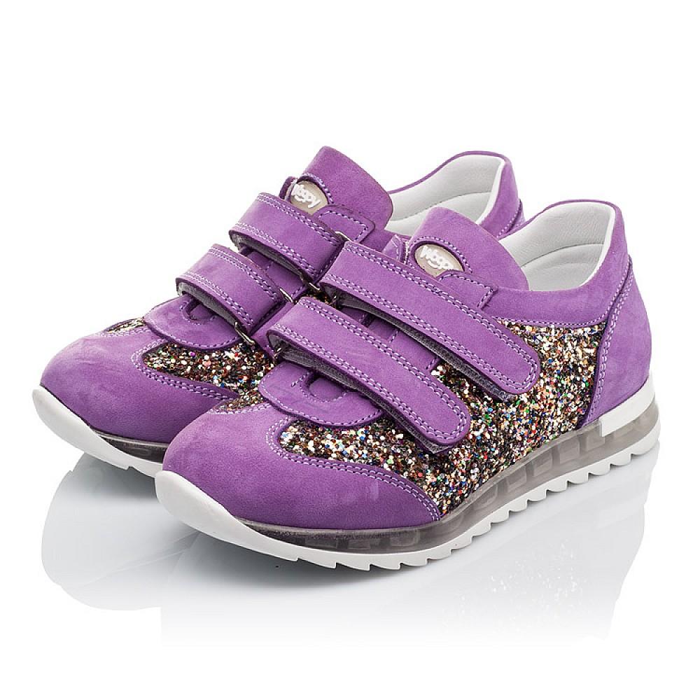 Детские кроссовки Woopy Orthopedic сиреневые для девочек натуральный нубук, современный искусственный материал размер 26-36 (3616) Фото 3