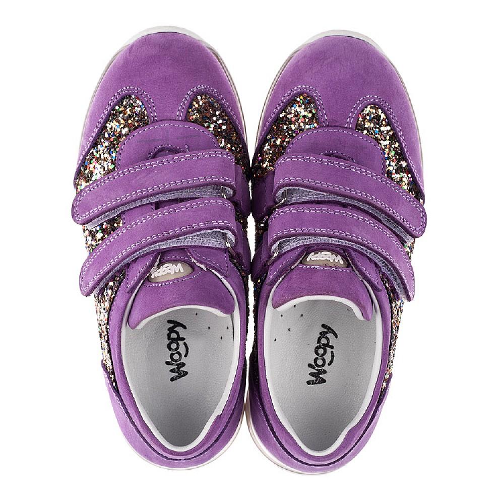 Детские кроссовки Woopy Orthopedic сиреневые для девочек натуральный нубук, современный искусственный материал размер 26-36 (3616) Фото 5
