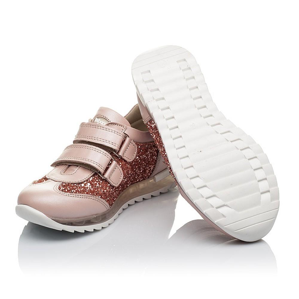 Детские кроссовки Woopy Orthopedic пудровые для девочек натуральный нубук, современный искусственный материал размер 29-36 (3617) Фото 2