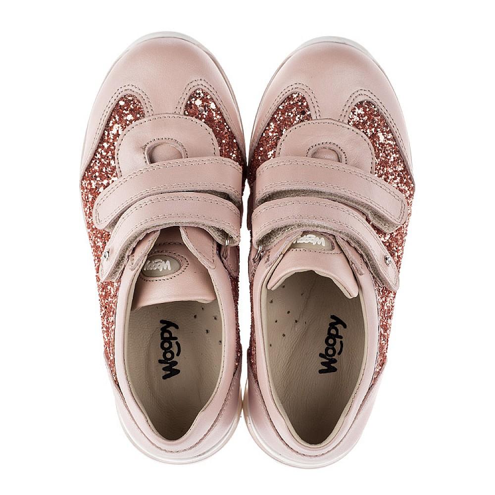 Детские кроссовки Woopy Orthopedic пудровые для девочек натуральный нубук, современный искусственный материал размер 29-36 (3617) Фото 5