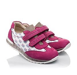 Детские кроссовки Woopy Orthopedic малиновые, разноцветные для девочек натуральная кожа / натуральный нубук размер 21-33 (3618) Фото 1