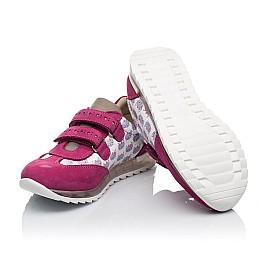 Детские кроссовки Woopy Orthopedic малиновые, разноцветные для девочек натуральная кожа / натуральный нубук размер 21-33 (3618) Фото 2