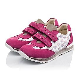 Детские кроссовки Woopy Orthopedic малиновые, разноцветные для девочек натуральная кожа / натуральный нубук размер 21-33 (3618) Фото 3