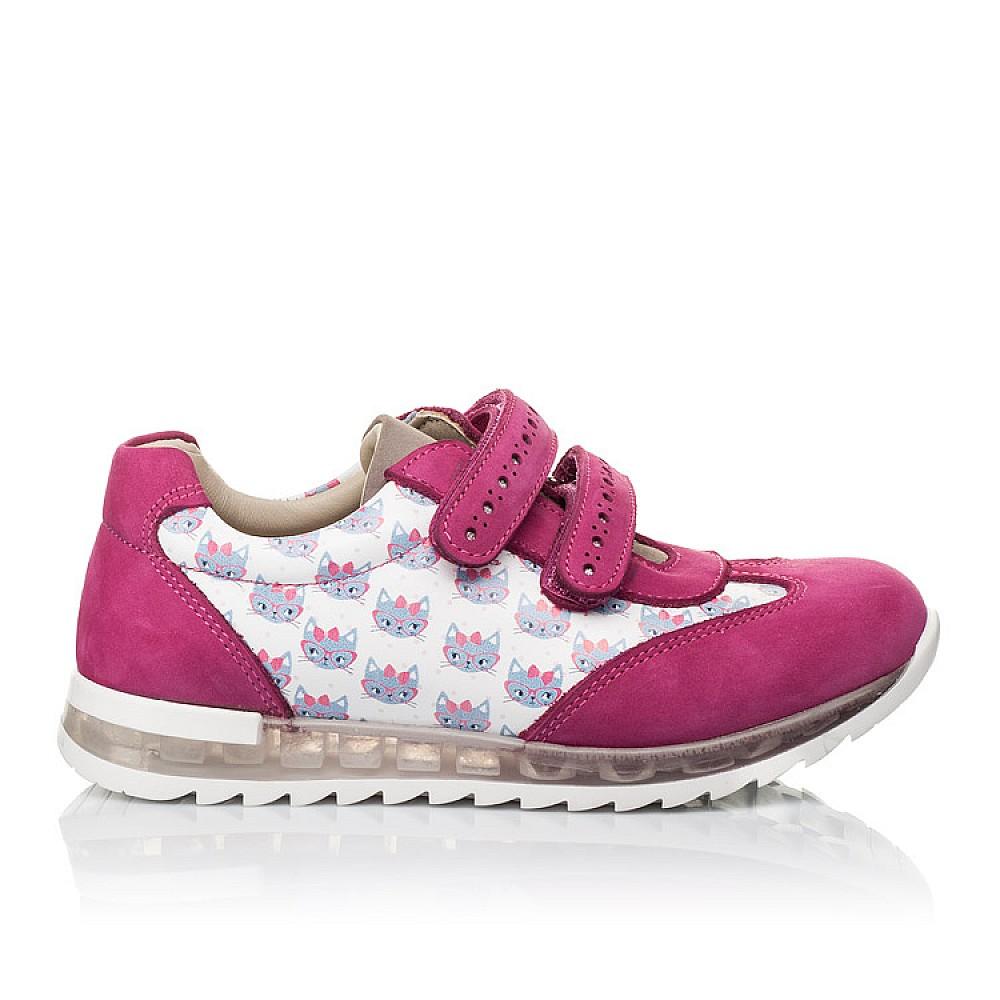Детские кроссовки Woopy Orthopedic малиновые, разноцветные для девочек натуральная кожа / натуральный нубук размер 21-33 (3618) Фото 4