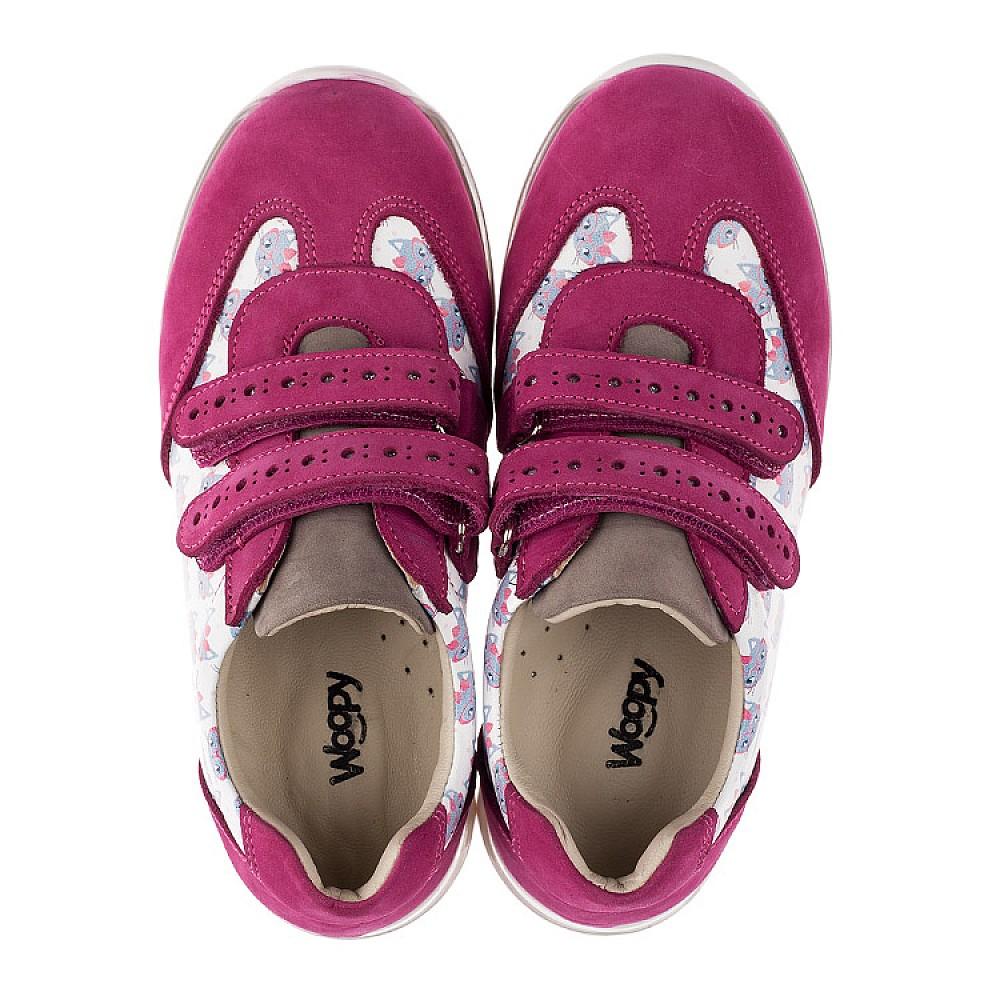 Детские кроссовки Woopy Orthopedic малиновые, разноцветные для девочек натуральная кожа / натуральный нубук размер 21-33 (3618) Фото 5