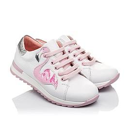 Детские кроссовки Woopy Orthopedic белые для девочек натуральная кожа размер 24-33 (3620) Фото 1