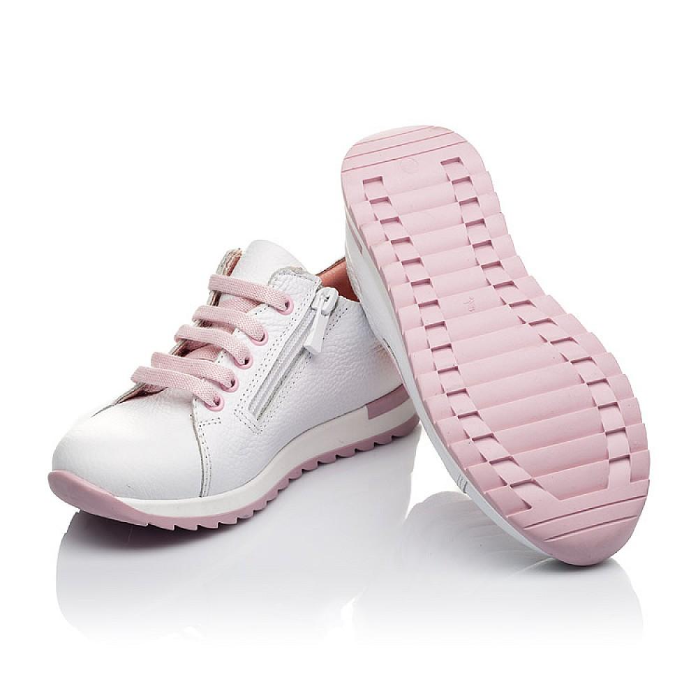 Детские кроссовки Woopy Orthopedic белые для девочек натуральная кожа размер 24-33 (3620) Фото 2