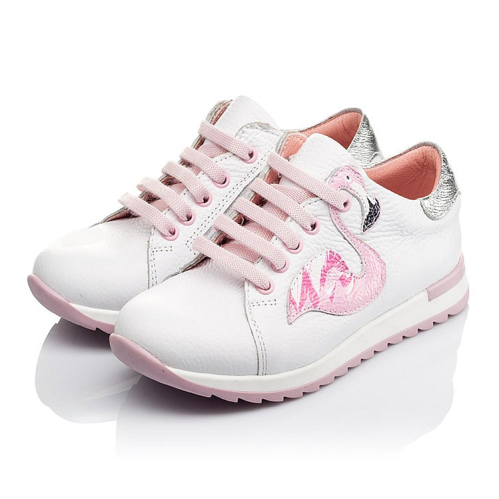 Детские кроссовки Woopy Orthopedic белые для девочек натуральная кожа размер 24-33 (3620) Фото 3
