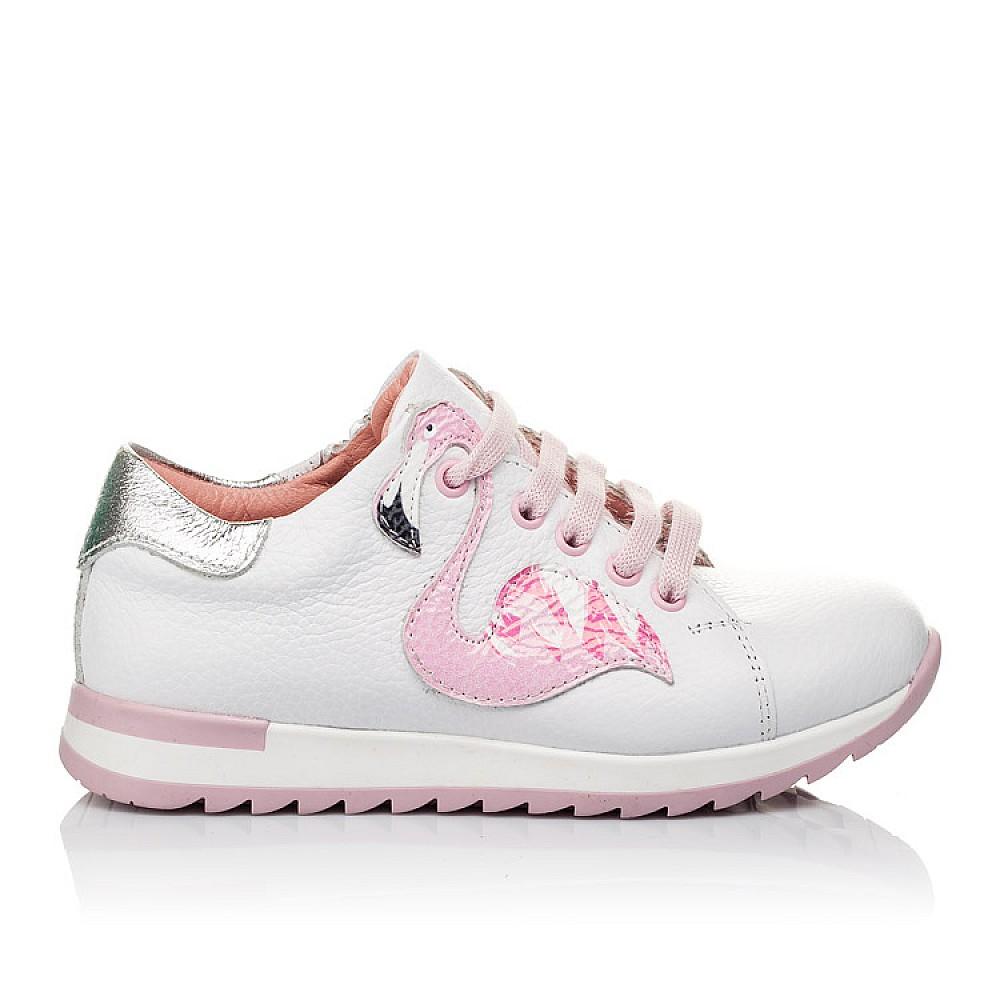 Детские кроссовки Woopy Orthopedic белые для девочек натуральная кожа размер 24-33 (3620) Фото 4