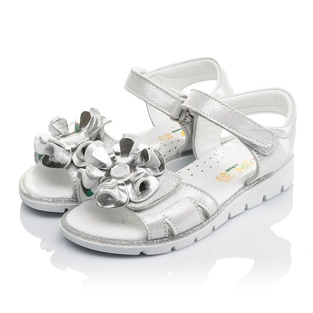 Детские босоножки Woopy Orthopedic серебряные для девочек натуральная кожа размер 28-34 (3624) Фото 3