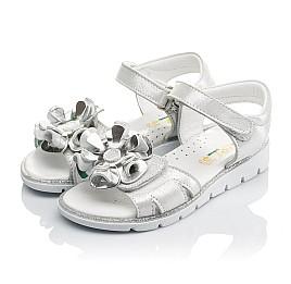 Детские босоножки Woopy Orthopedic серебряные для девочек натуральная кожа размер - (3624) Фото 3