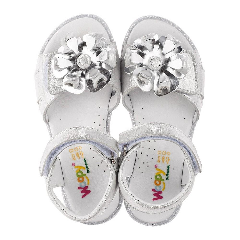 Детские босоножки Woopy Orthopedic серебряные для девочек натуральная кожа размер 28-34 (3624) Фото 5