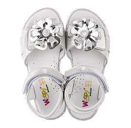 Детские босоножки Woopy Orthopedic серебряные для девочек натуральная кожа размер 28-30 (3624) Фото 5