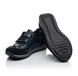 Детские кроссовки Woopy Orthopedic темно-синие для мальчиков натуральная кожа размер 29-36 (3625) Фото 2